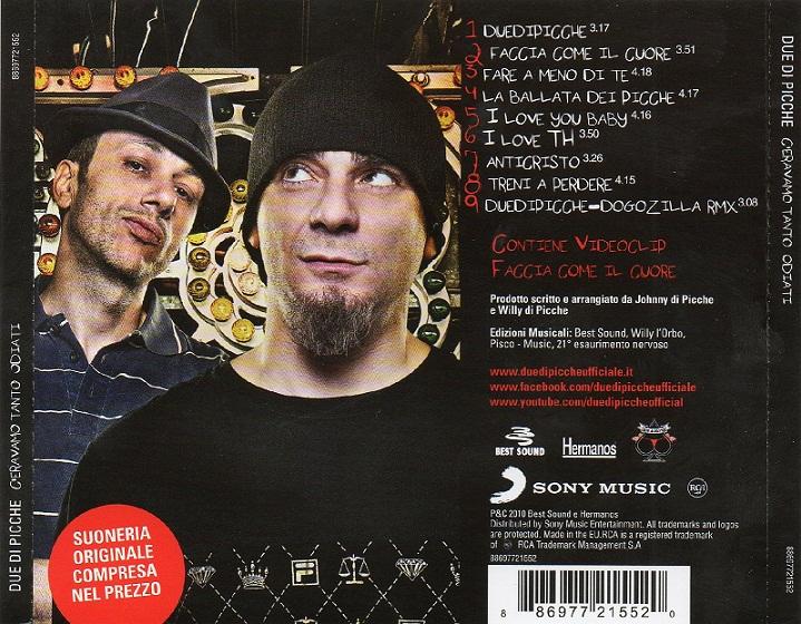 due di picche - ci eravamo tanto odiati - copertina cd - retro