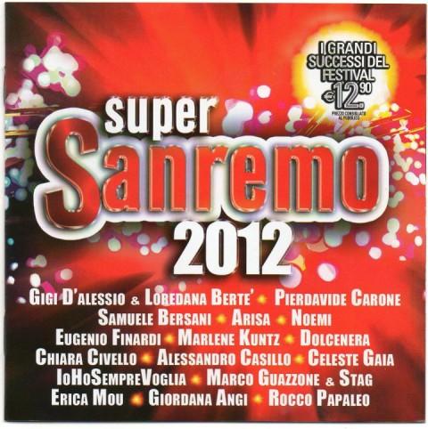 copertina disco compilation super sanremo 2012