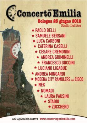 Concerto Emilia terremoto locandina