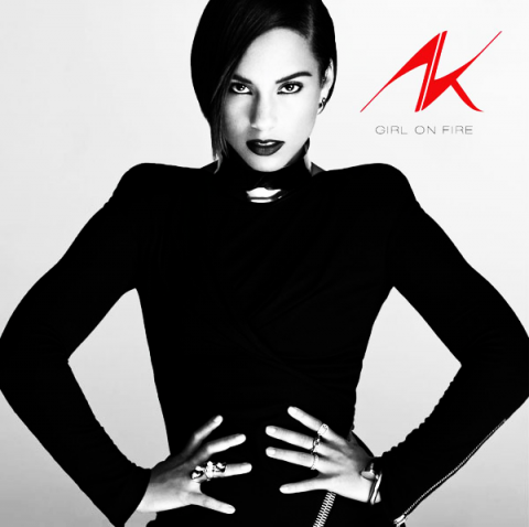 Alicia Keys Girl on fire copertina disco artwork