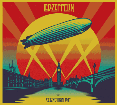 Led Zeppelin Celebration Day copertina disco DVD artwork