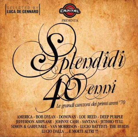 Splendidi quarantenni rock compilation cd cover