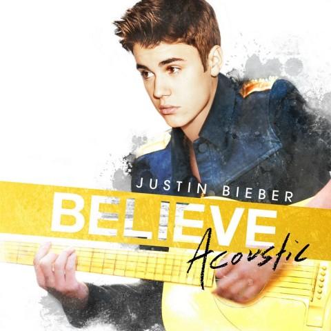 Believe Acoustic Justin Bieber copertina disco