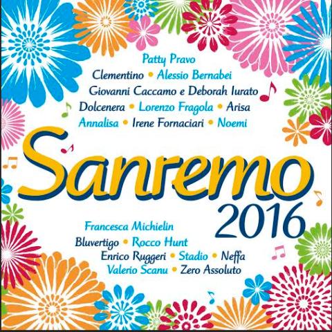 copertina disco sanremo 2016