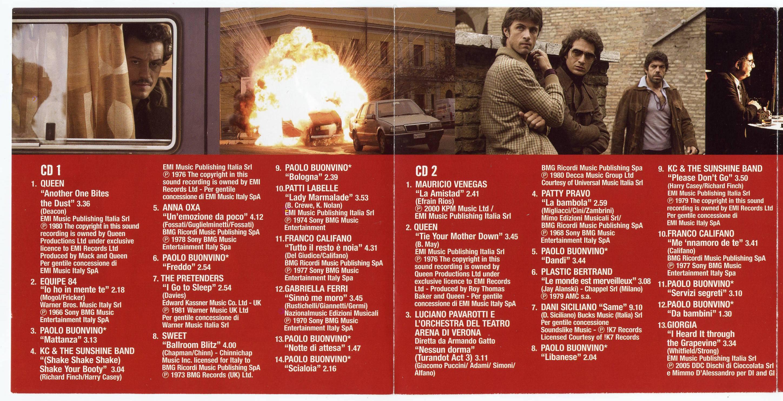 La colonna sonora di romanzo criminale – cd cover e tracklist.