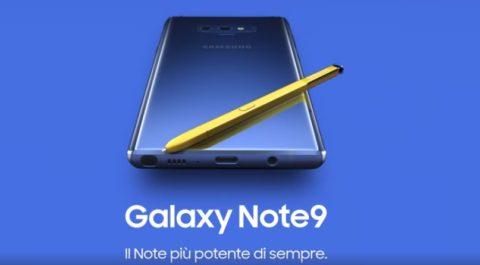 Samsung galaxy note9 spot settembre 2018
