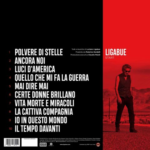 Ligabue Start Album 2019 cover retro back