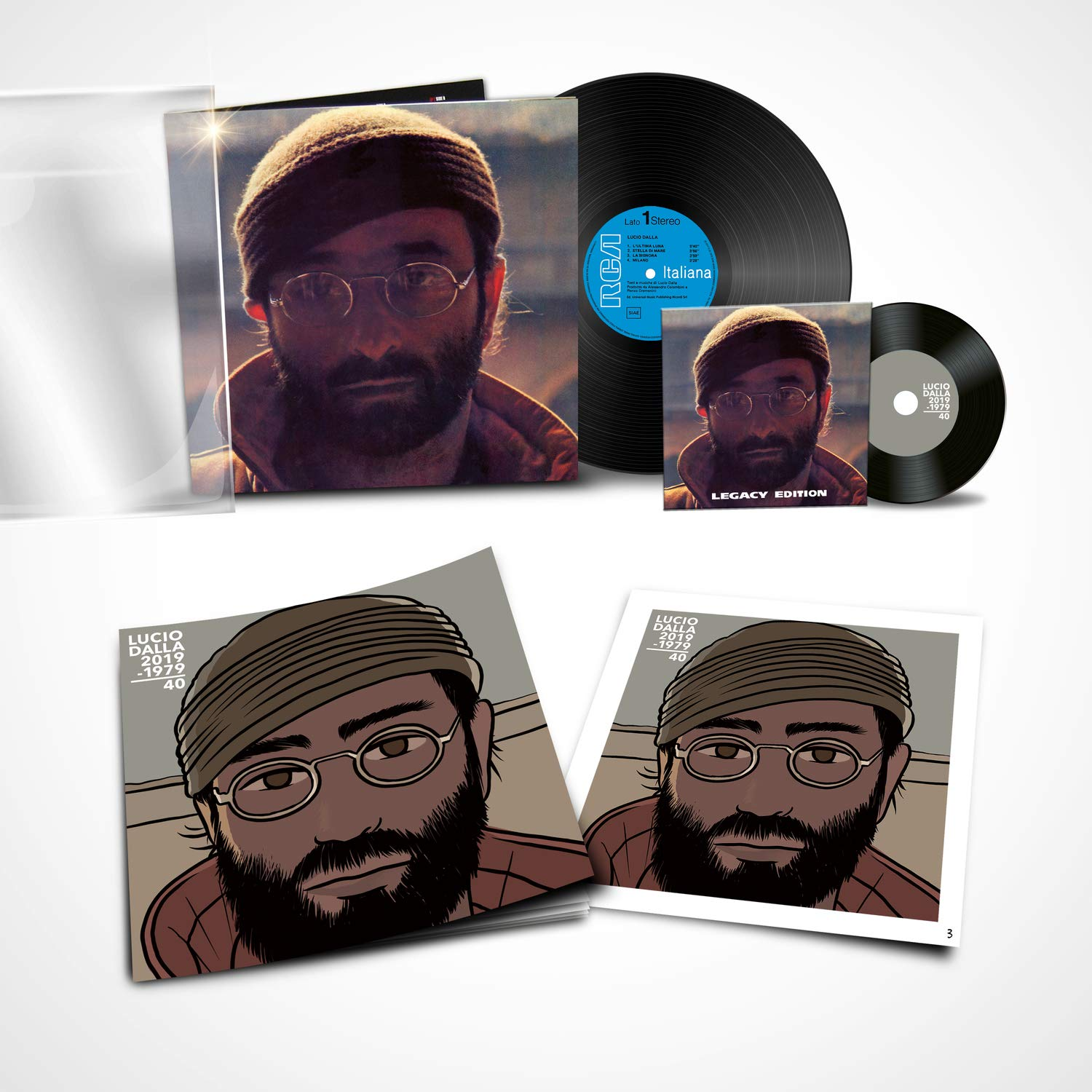 Lucio Dalla - Legacy Edition album cover 2019