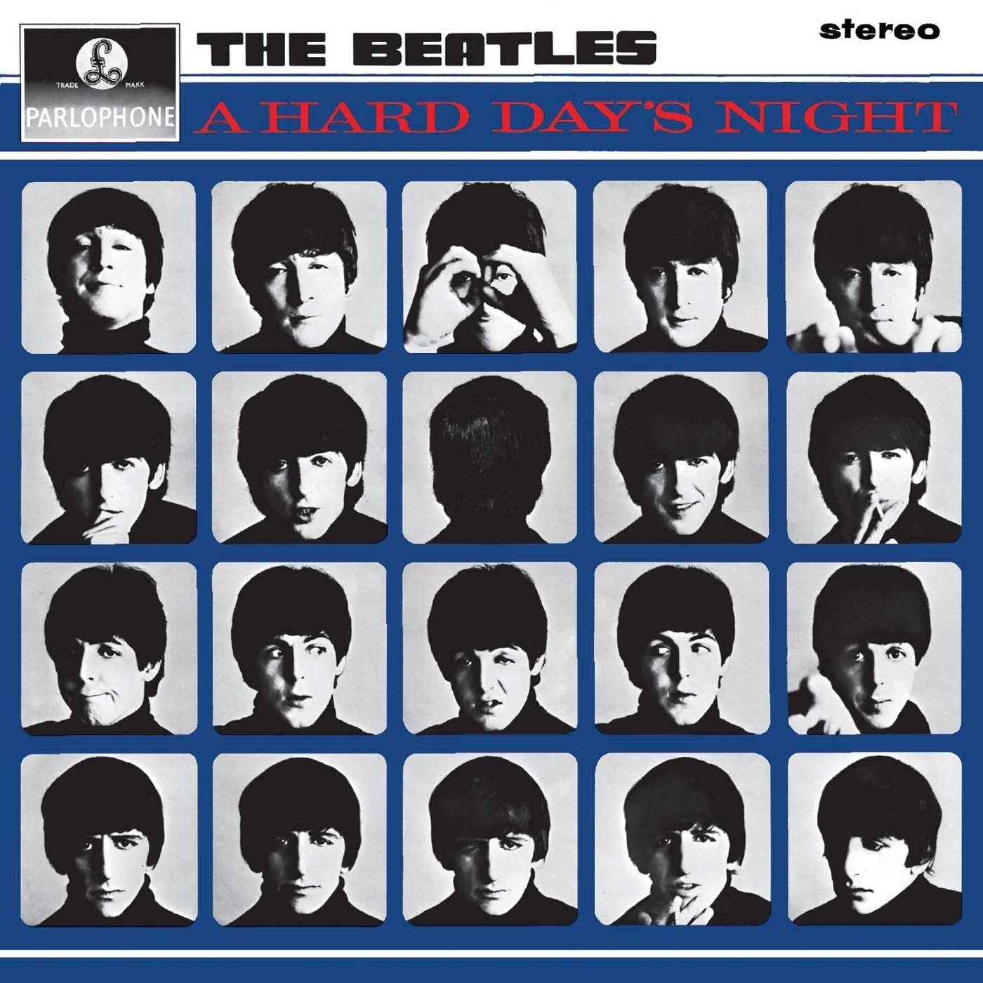 The Beatles A Hard Day's Night album 1964 cover